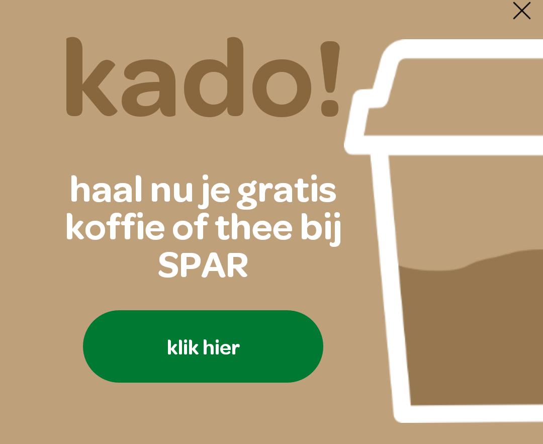 Gratis thee of koffie bij Spar City