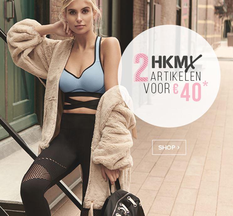 Actie: 2 HKMX sportartikelen voor €40 (normaal tot €45 p.s.!!) @ Hunkemöller