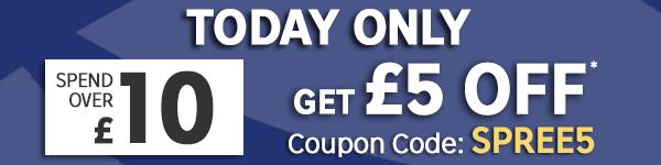 Kortingcode voor £5 (min. besteding £10) @ rakuten.co.uk