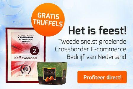 Gratis doosje truffels bij elke bestelling @ koffievoordeel