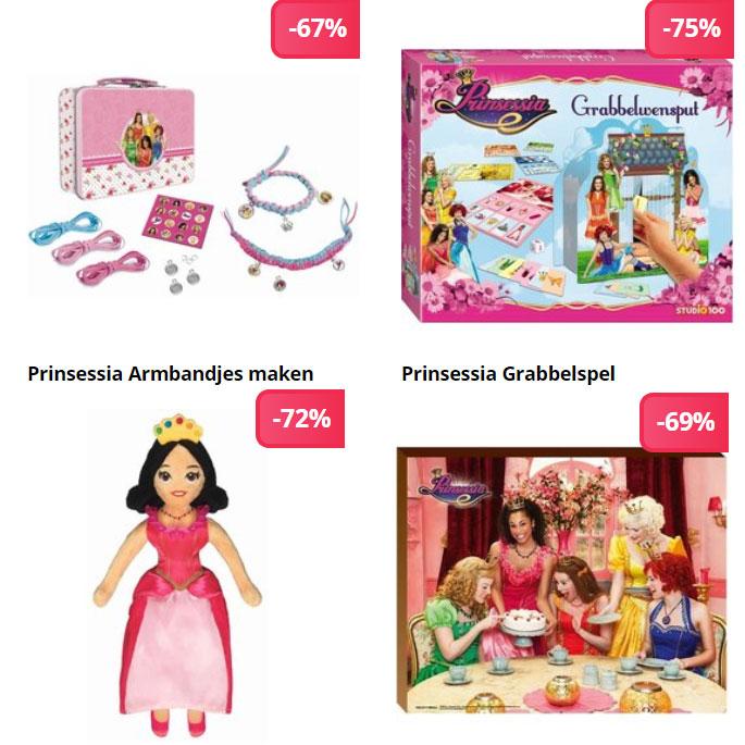 Heel veel Prinsessia speelgoed / goodies afgeprijsd (tot -75%) @ Studio 100