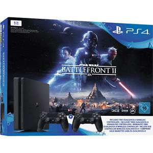 Sony Playstation 4 slim 1TB + 2 controllers + Battlefront II @eBay