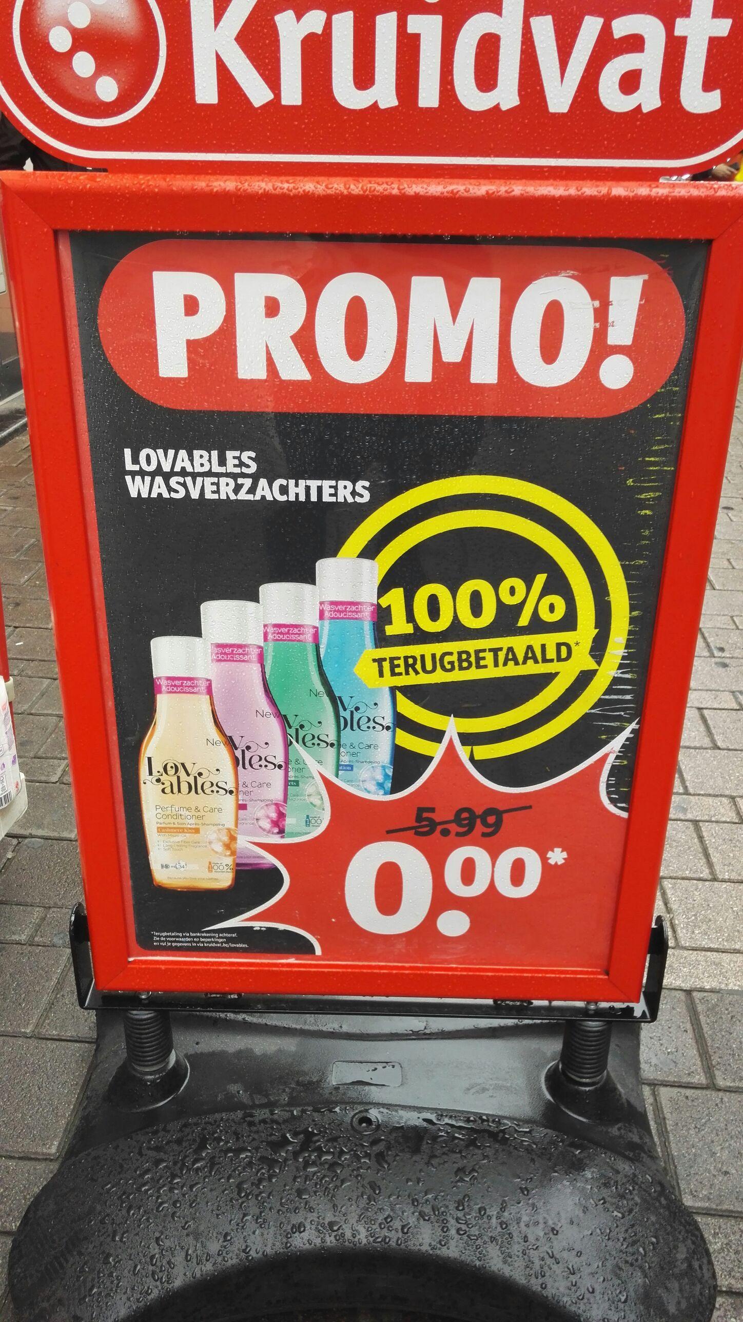 [Grensdeal] België: Gratis Lovables wasverzachter @ Kruidvat
