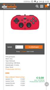 [Prijsfout] - Hori Mini Gamepad PS4