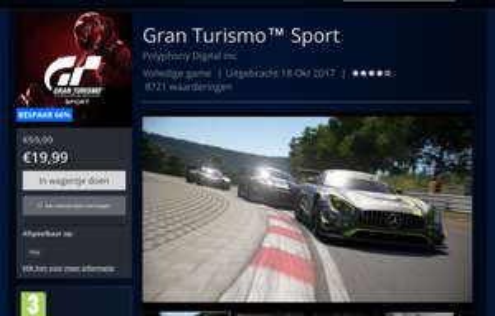 Gran Turismo Sport €20