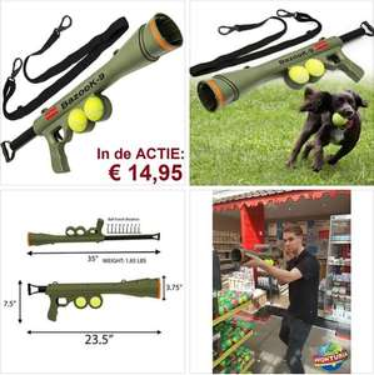 Tennisbal bazooka
