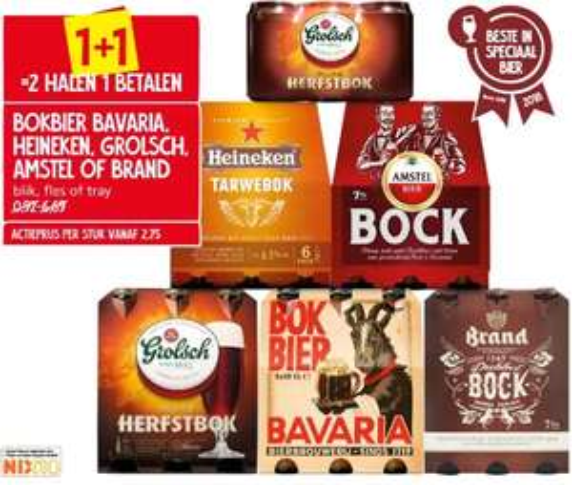 1+1 gratis op sixpacks bokbier @ Janlinders @ Vomar @ Hoogvliet