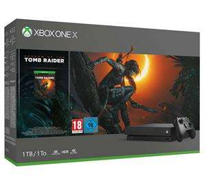 Xbox One X 1TB + Shadow of Tomb Raider voor €479 @ Game Mania