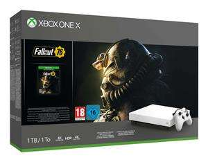 Xbox One X 1TB Robot White + Fallout 76 voor €479 @ Game Mania