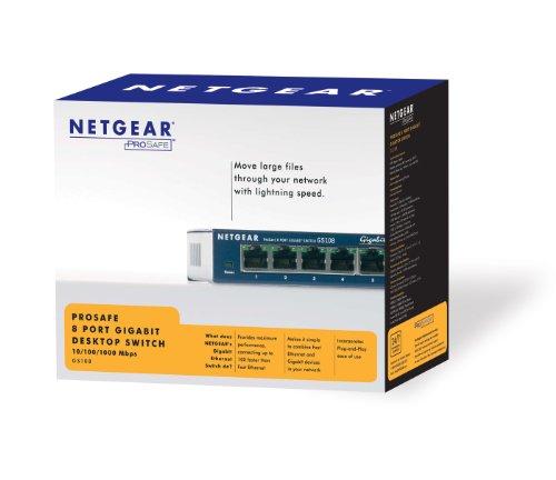 Netgear GS108 netwerk switch voor €21,50 @ Amazon.de