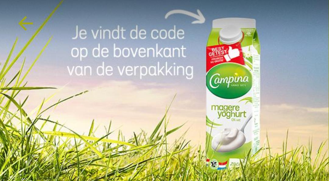 Gratis Campina magere yoghurt via Eurosparen
