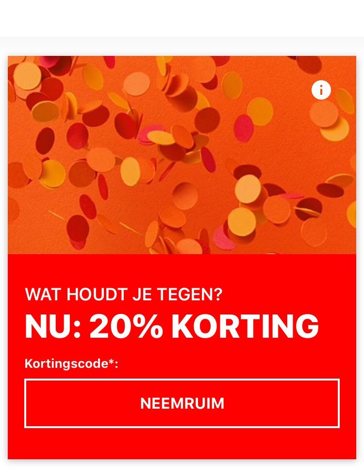 20% korting bij Zalando op geselecteerde items (vanaf € 150,-)
