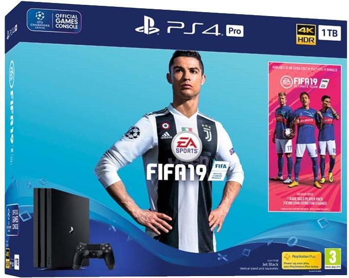 Sony PlayStation 4 Pro 1TB + FIFA 19 voor €402 @ Amazon.co.uk