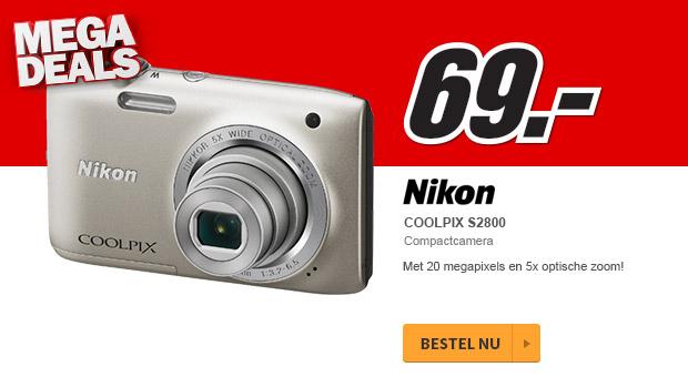 Nikon Coolpix S2800 camera voor € 69 @ Media Markt