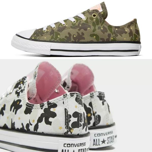 Converse kids All Stars Camo OX sneakers €20 @ JD Sports
