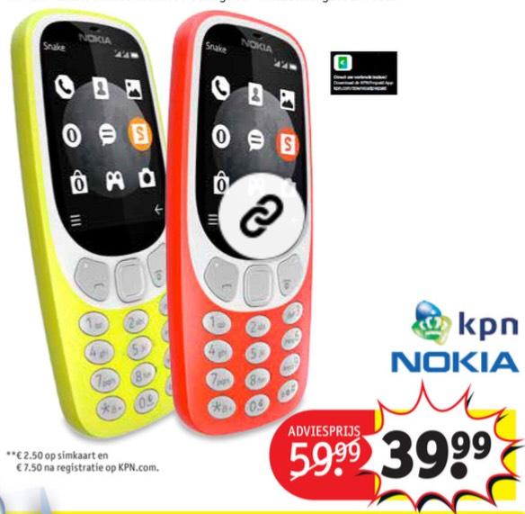 Nokia 3310 3G met KPN universele sim-kaart || Kruidvat