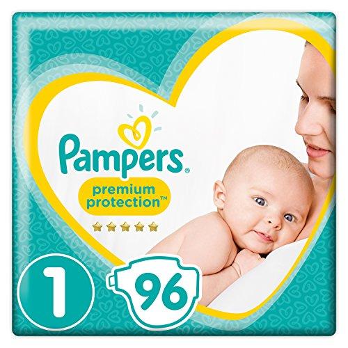 Pampers Premium Protection - 96 luiers (€0,10 p.s.) - maat 1 @Amazon.de