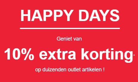 Happy Days: 10% extra korting op 1000-en outlet artikelen @ KIABI