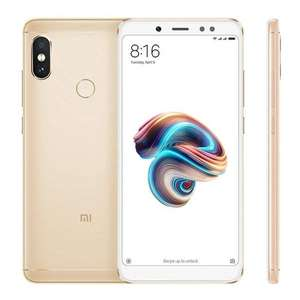 Xiaomi Redmi Note 5 4/64GB GOUD (Global) voor ~157 euro @Banggood