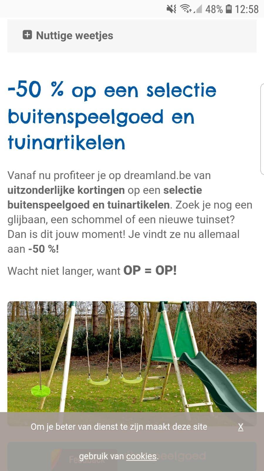 [grensdeal] 50% korting op een selectie van tuinartikelen en buitenspeelgoed