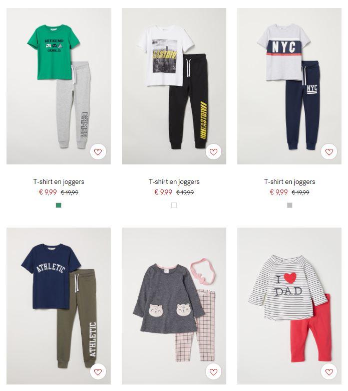 Diverse sets voor kids / baby's €9,99 @ H&M