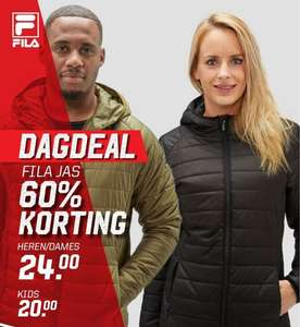 Dagdeal: Fila jassen -60% + 10% extra met code @ Aktiesport