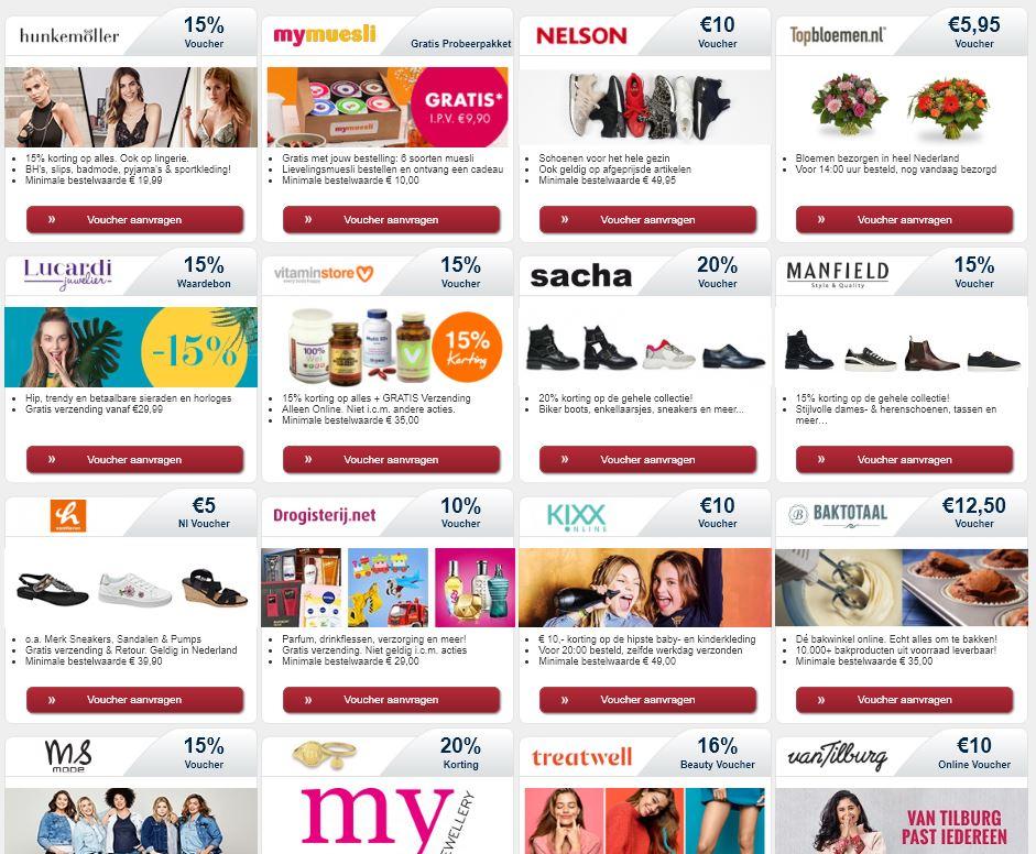 Tip: Sovendus Premium nieuwsbrief met gratis kortingsbonnen/waardebonnen voor 100+ webshops (disclaimer:omslachtig aanmeld proces)