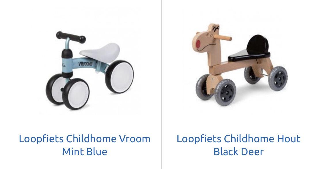 Childhome loopfietsen voor €19,99 @Babysupershop