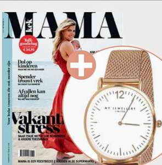 5 nummers Kekmama met MY JEWELLERY horloge