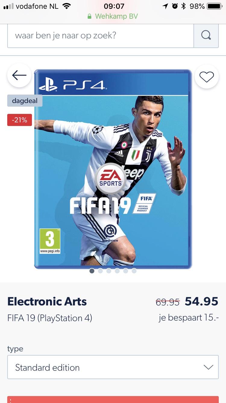 FIFA 19 PS4/XBOX ONE €54,95
