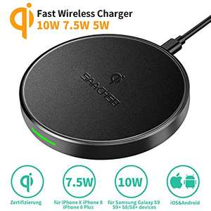 Fast wireless qi charger met coupon €7.64