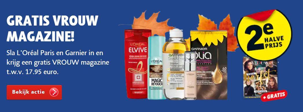 Gratis Vrouw herfstboek t.w.v. €17,95 bij aankoop 2 actieproducten (va €1,48) @ Kruidvat