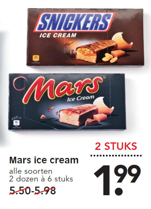 Mars & Snickers ice cream 2 dozen van 6 @EMTÉ