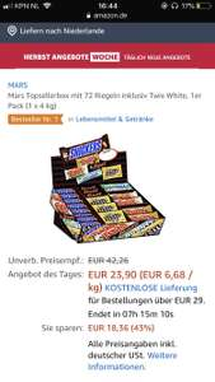 Mars topsellerbox
