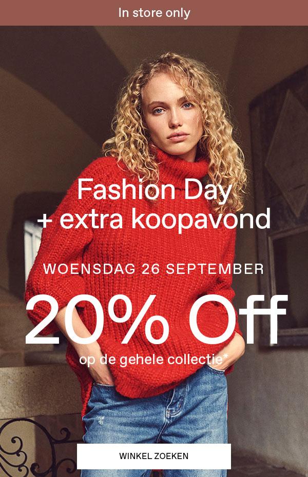 Woensdag 26 September 20% korting op de gehele collectie + koopavond @veromoda