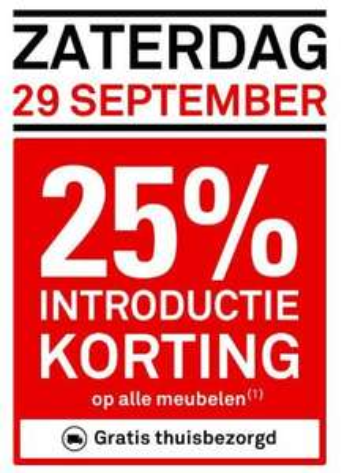 Za 29-09: 25% korting op meubelen + gratis bezorgd (à €29 / €39) @ Karwei