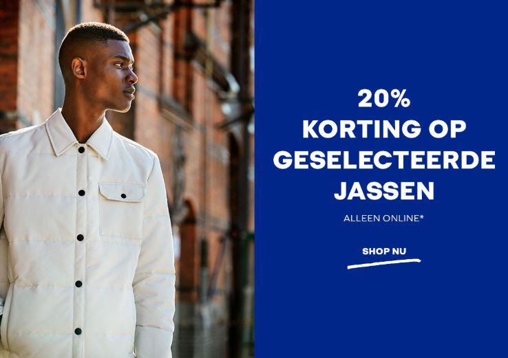 Actie: jassen 20% korting @ Jack & Jones