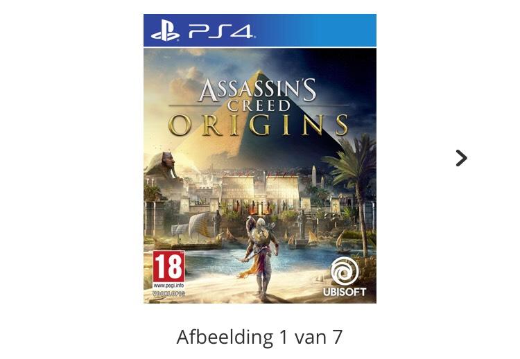 PS4 Assassin's Creed: Origins (Standard Edition) - €29,00    Bol.com