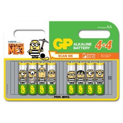 GP AA batterijen 4+4 Minions @AlbertHeijn