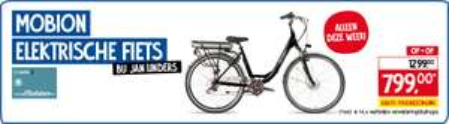 Elektrische fiets bij Jan Linders inclusief extra's zoals ANWB fietshulp en gratis thuis bezorgd
