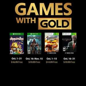 Games with Gold voor oktober @ MS/Xbox Store