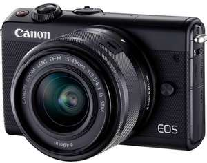 Canon EOS M100 + EF-M 15-45 mm IS STM voor 259,- na cashback @ Amazon
