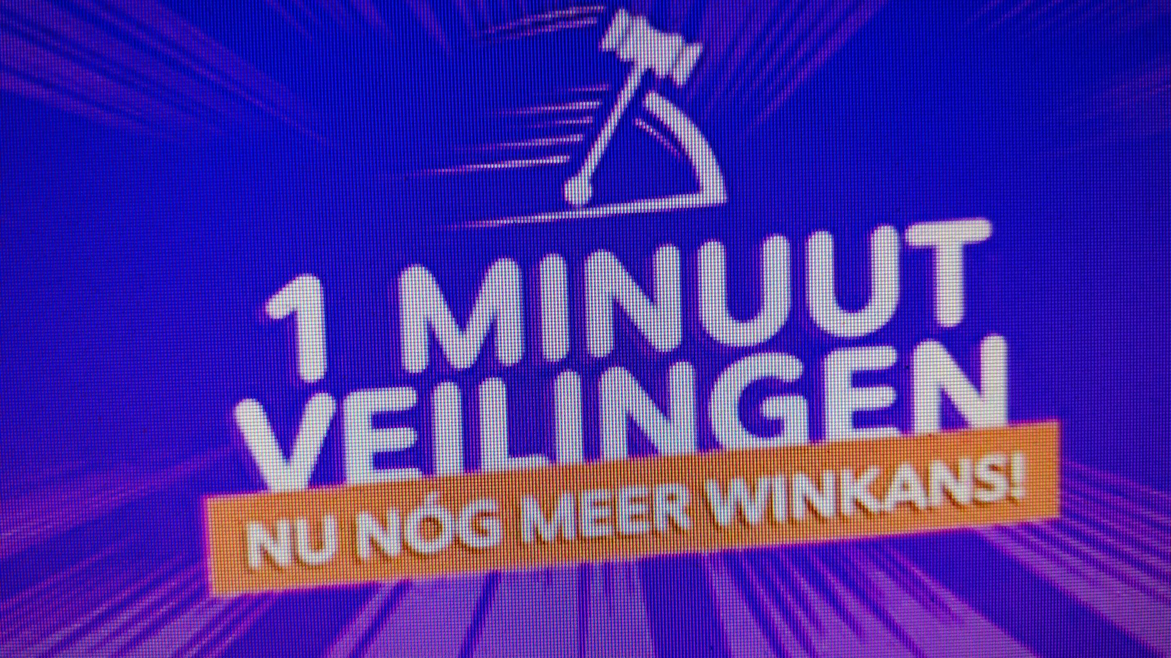 1 minuut veilingen @ vakantieveilingen