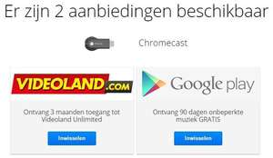 Gratis 3 Maanden Videoland Unlimited via je Chromecast