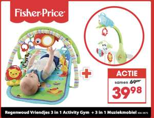 Fisher-Price 3-In-1 Muzikale Activity Gym + Muziek Mobiel Rainbowforrest