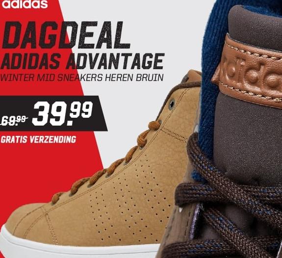 Aktiesport Dagdeal: adidas advantage clean winter mid sneakers
