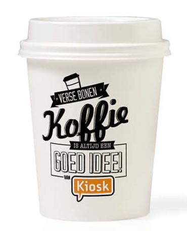 Gratis koffie bij kiosk met OV kaart (Stations traject Rotterdam - Den Haag CS) @ Kiosk