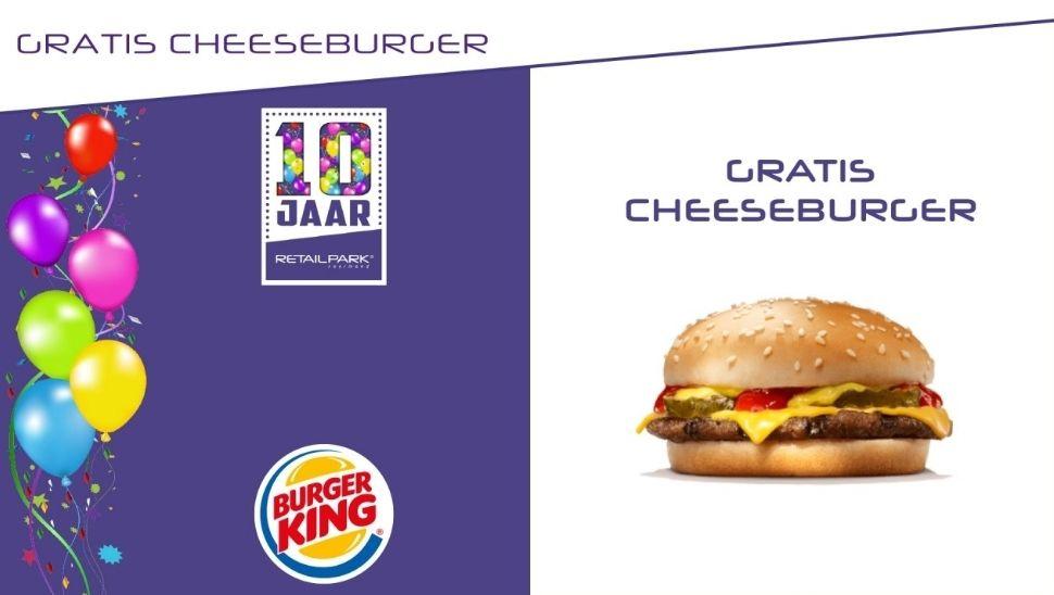 Gratis cheesburger bij Burger King Retailpark Roermond