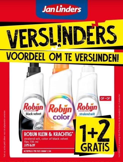 Jan Linders: Robijn Klein & Krachtig 1+2 gratis