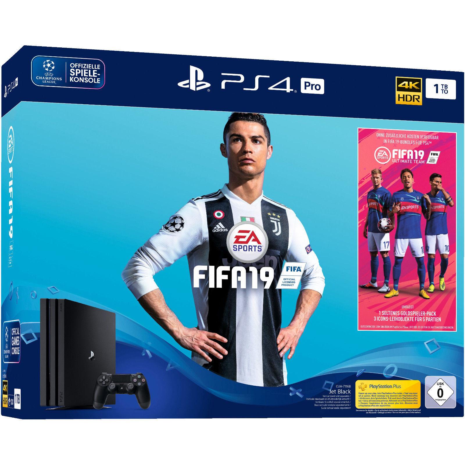 PlayStation 4 Pro 1TB - FIFA 19 Bundle voor €377,66 @ Amazon.de